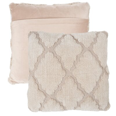 Covin Trellis Throw Pillow Color: Beige