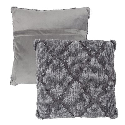 Covin Trellis Throw Pillow Color: Gray