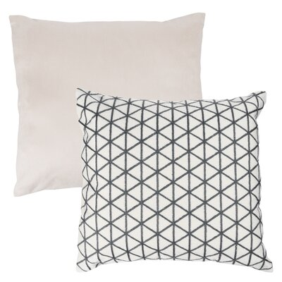Culbert Triangle Wool Throw Pillow Color: Gray