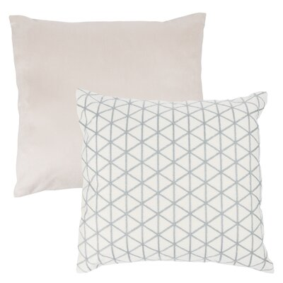 Culbert Triangle Wool Throw Pillow Color: Silver