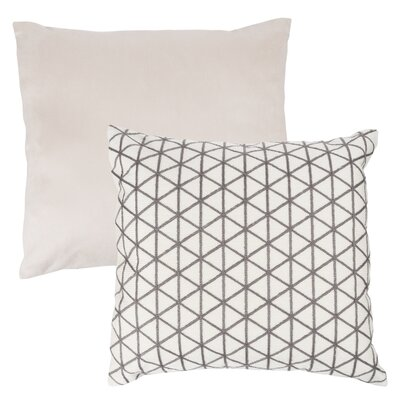 Culbert Triangle Wool Throw Pillow Color: Taupe