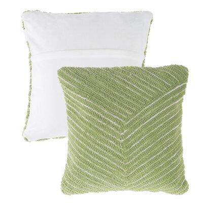 Mullan Stripe Throw Pillow Color: Green