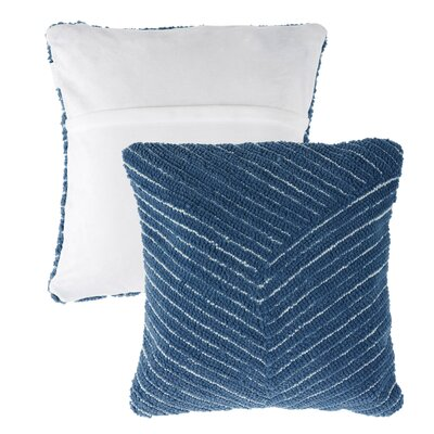Mullan Stripe Throw Pillow Color: Navy