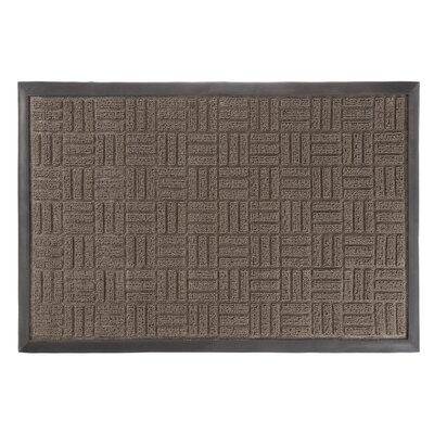 McGowan Parquet Welcome Doormat Mat Size: Rectangle 15.5 x 23