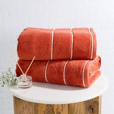 Hughes Zero Twist 2 Piece Bath Sheet Set Color: Brick