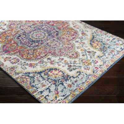 Almonte Pink/Saffron Area Rug Rug Size: Rectangle 2 x 3