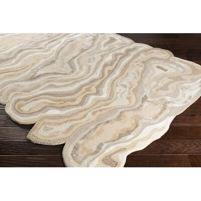 Ramsay Hand-Tufted Beige/Wheat Area Rug Rug Size: Rectangle 8 x 11