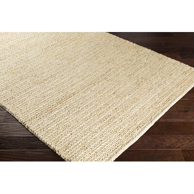 Blythen Hand-Woven Butter Area Rug Rug Size: Rectangle 2' x 3'