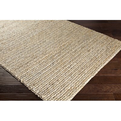 Blythen Hand-Woven Taupe/Cream Area Rug Rug Size: Rectangle 5 x 76