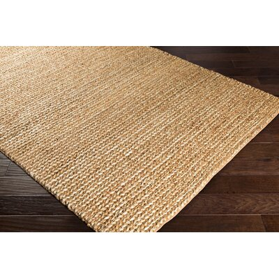 Blythen Hand-Woven Camel/Butter Area Rug Rug Size: Rectangle 2 x 3