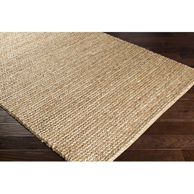 Blythen Hand-Woven Tan/Butter Area Rug Rug Size: Rectangle 8 x 10