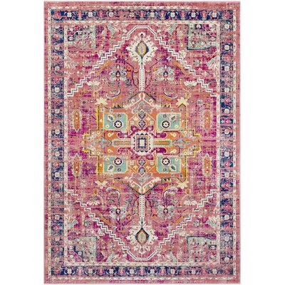 Anil Distressed Garnet/Purple Area Rug Rug Size: Rectangle 22 x 3