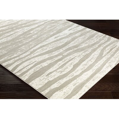 Nagel Gray/Taupe Area Rug Rug Size: Rectangle 76 x 106