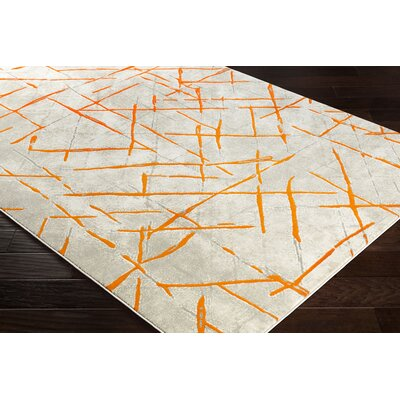 Ferrin Burnt Orange/Gray Area Rug Rug Size: Rectangle 22 x 3