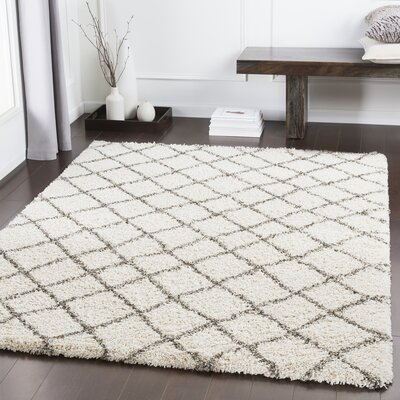 Grainger Trellis Dark Brown/Light Gray Area Rug Rug Size: Rectangle 53 x 76