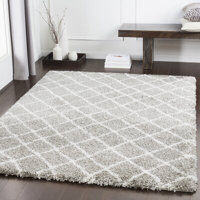Grainger Trellis Taupe/Light Gray Area Rug Rug Size: Rectangle 53 x 76