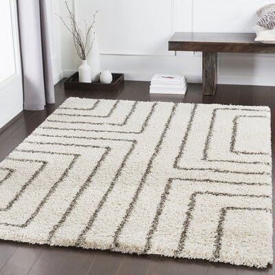 Swampscott Geometric Dark Brown/Light Gray Area Rug Rug Size: Rectangle 53 x 76