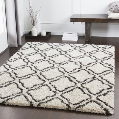 Lawhon Trellis Brown/White Area Rug Rug Size: Rectangle 53 x 76