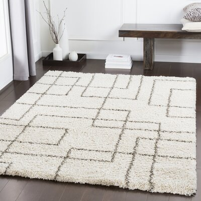 Swampscott Geometric Dark Brown/Light Gray Area Rug Rug Size: Rectangle 710 x 111