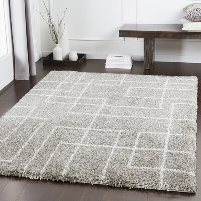 Swampscott Geometric Light Gray/Taupe Area Rug Rug Size: Rectangle 2 x 3
