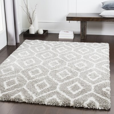 Grainger Geometric Dark Brown/Gray Area Rug Rug Size: Rectangle 53 x 76