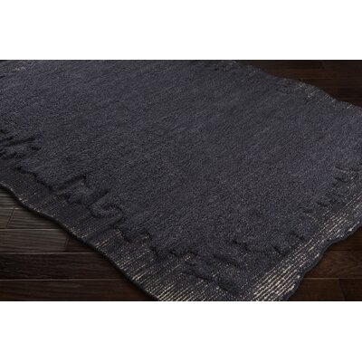Celinda Hand-Woven Wool Black/Gray Area Rug Rug Size: Rectangle 8 x 10