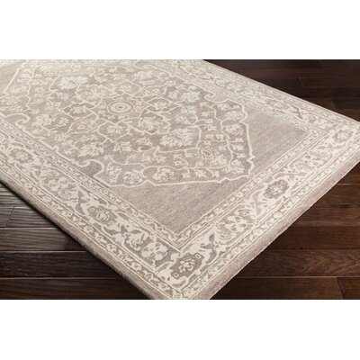 Kirtland Floral Hand-Tufted Wool Camel Area Rug Rug Size: Rectangle 5 x 76