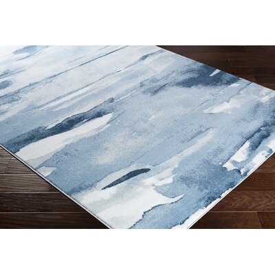 Redden Abstract Denim/Navy Area Rug Rug Size: Rectangle 39 x 52