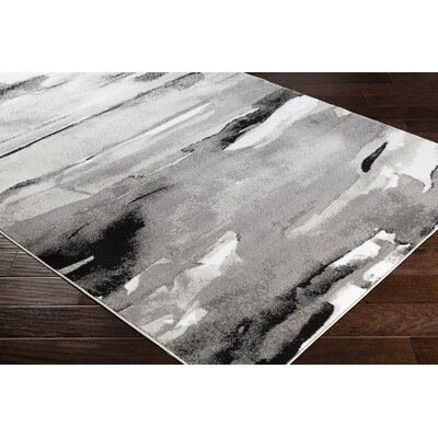 Redden Abstract Gray Area Rug Rug Size: Rectangle 39 x 52