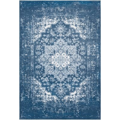 Dutil Overdyed Denim/Navy Area Rug Rug Size: Rectangle 39 x 52