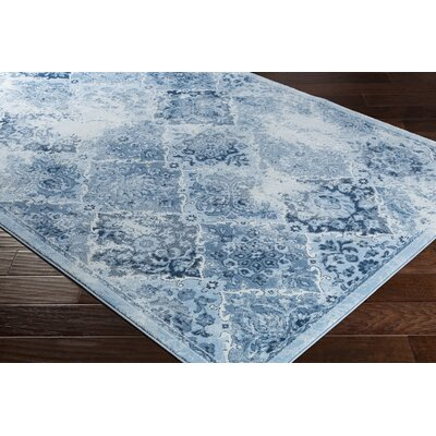 Dutil Distressed Ivory/Denim Area Rug Rug Size: Rectangle 52 x 76