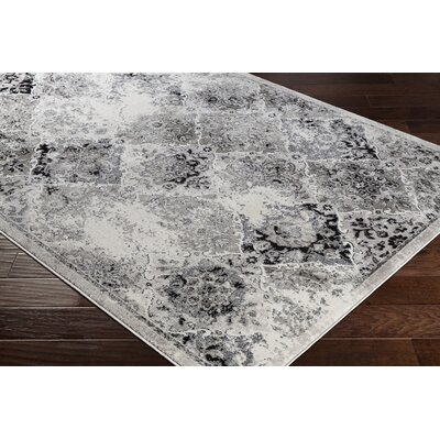 Dutil Distressed Gray Area Rug Rug Size: Rectangle 78 x 106