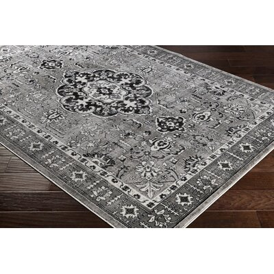 Dutil Floral Gray Area Rug Rug Size: Rectangle 39 x 52