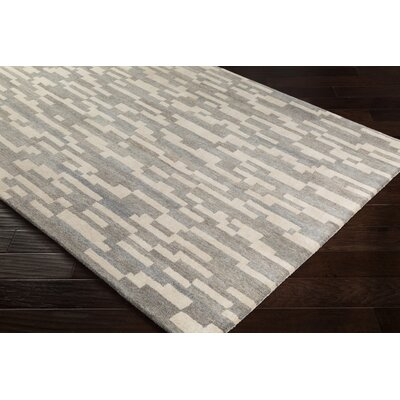Canale Hand-Tufted Wool Camel/Khaki Area Rug Rug Size: Rectangle 5 x 76