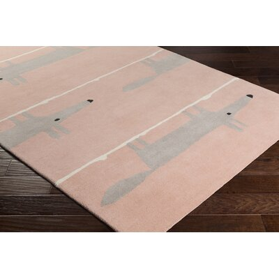 Engen Hand-Tufted Wool Blush/Taupe Area Rug Rug Size: Rectangle 5 x 8