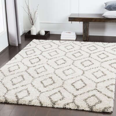 Chronister Geometric Taupe Area Rug Rug Size: Rectangle 53 x 73