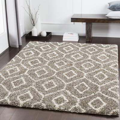 Chronister Geometric Brown/Taupe Area Rug Rug Size: Rectangle 67 x 96