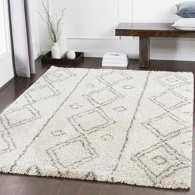 Eadie Geometric Brown Area Rug Rug Size: Rectangle 53 x 73