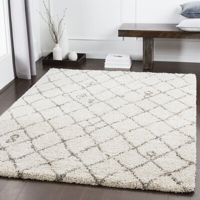Dileo Trellis Taupe Area Rug Rug Size: Rectangle 53 x 73