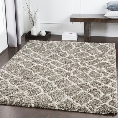 Dileo Trellis Taupe/Brown Area Rug Rug Size: Rectangle 2 x 3