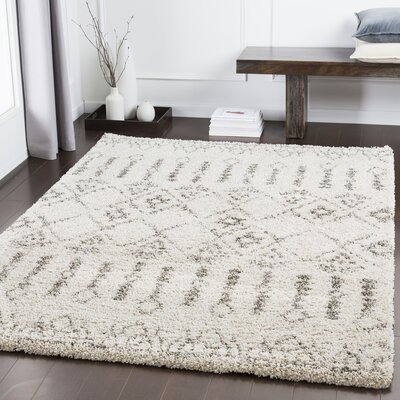 Eadie Bohemian Taupe/Khaki Area Rug Rug Size: Rectangle 53 x 73