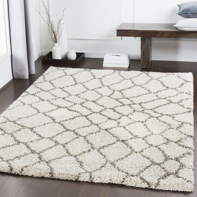 Dileo Trellis Brown/Khaki Area Rug Rug Size: Rectangle 53 x 73