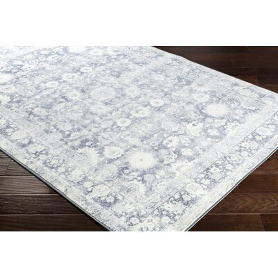 Kirts Distressed Gray Area Rug Rug Size: Rectangle 710 x 103