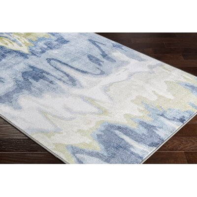 Dilbeck Abstract Olive/White Area Rug Rug Size: Rectangle 53 x 73
