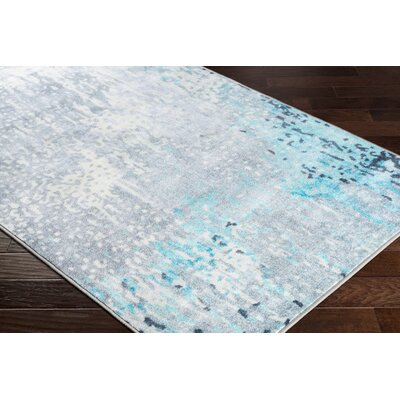 Dilbeck Abstract Aqua Area Rug Rug Size: Rectangle 53 x 73