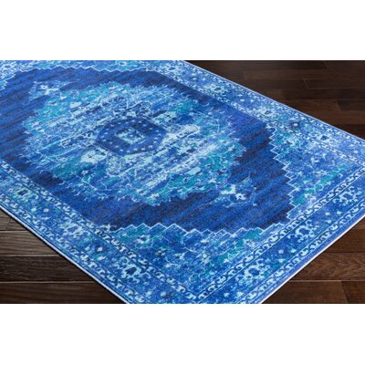 Wyclif Overdyed Blue Area Rug Rug Size: Rectangle 53 x 73