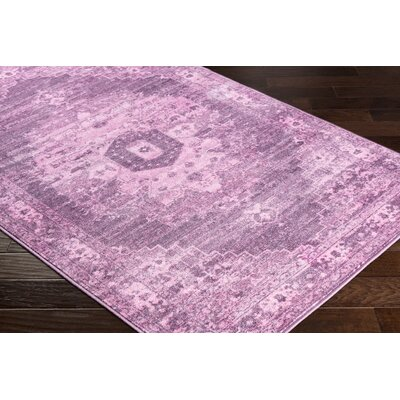 Wyclif Overdyed Pink/Lilac Area Rug Rug Size: Rectangle 2 x 3