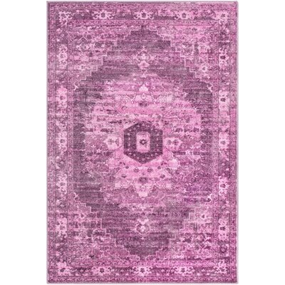 Wyclif Overdyed Pink/Lilac Area Rug Rug Size: Rectangle 53 x 73
