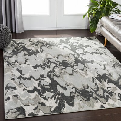 Redelong Abstract Camel/White Area Rug Rug Size: Rectangle 2 x 3