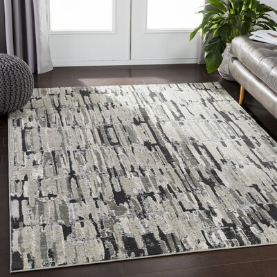 Dille Gray Area Rug Rug Size: Rectangle 710 x 106